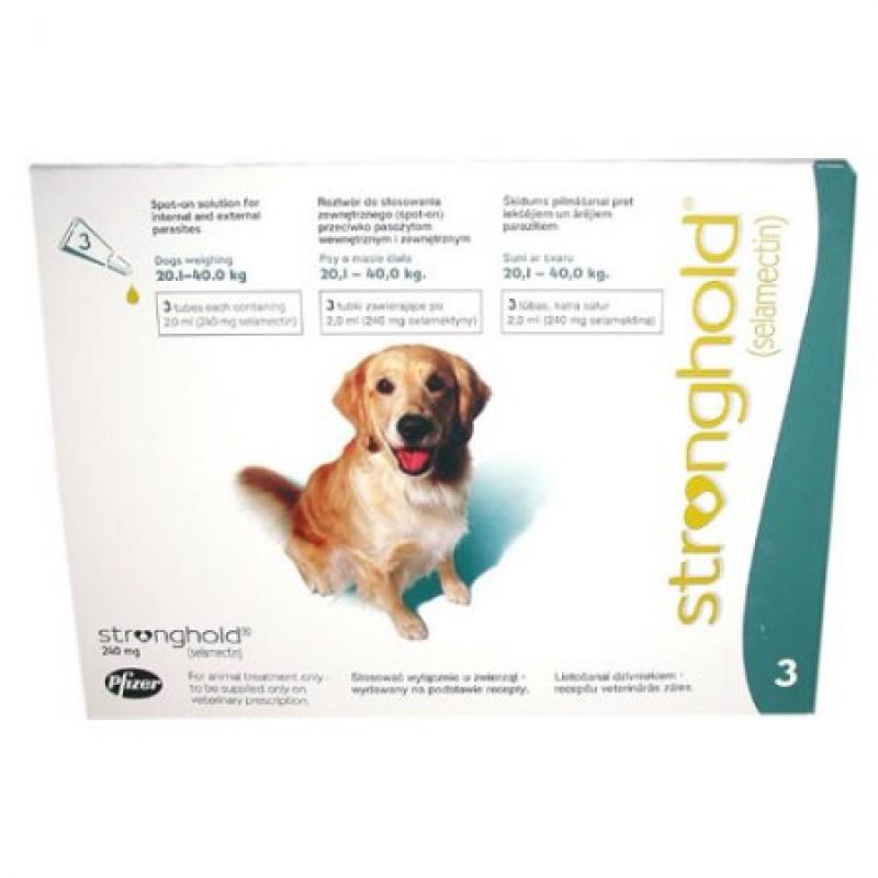 stronghold verde 3 tubetti 240 mg 12 cani 20 1 40 0 kg a 34 85 su farmacia pasquino. Black Bedroom Furniture Sets. Home Design Ideas