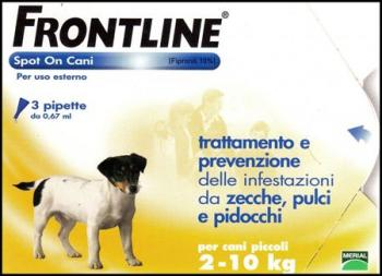 FRONTLINE SPOT ON 4 PIPETTE 0,67 ML CANI 2 - 10 KG