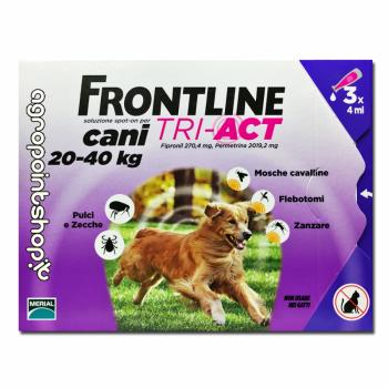 FRONTLINE TRI-ACT 3 PIPETTE 4 ML CANI 20 - 40 KG
